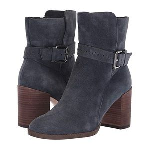 🎬🆕 Splendid ❃ Buckled Suede Heeled Boot ❃ Grey